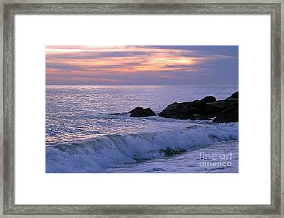 Cape May Sunset Framed Print by Olivia Hardwicke