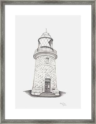 Framed Print featuring the drawing Cape Naturalist Lighthouse by Patricia Hiltz