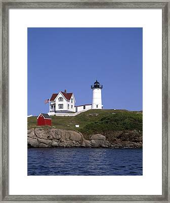 Cape Neddick Light Station In Maine Framed Print