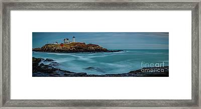 Cape Neddick Lighthouse Framed Print by Abe Pacana