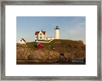 Cape Neddick Lighthouse Framed Print by John Shaw