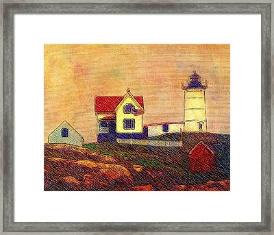 Cape Neddick Lighthouse Framed Print by Melinda Dreyer