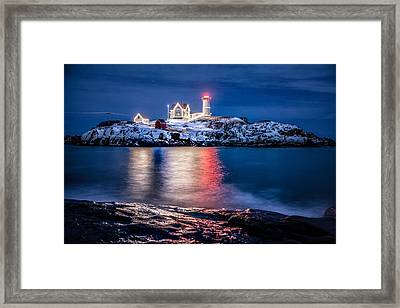 Framed Print featuring the photograph Cape Neddick Lighthouse by Robert Clifford