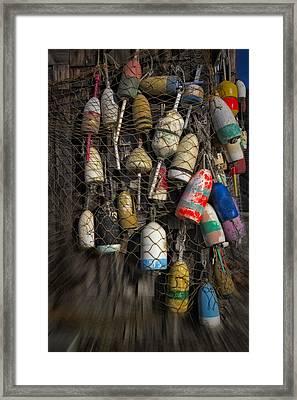 Cape Neddick Lobster Buoys Framed Print by Susan Candelario