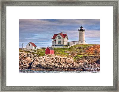 Cape Neddick Nubble Lighthouse II Framed Print by Clarence Holmes