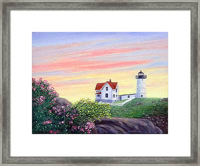 Cape Neddick Sunrise Framed Print by Fran Brooks