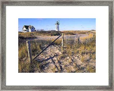 Race Point Lighthouse Cape Cod Framed Print