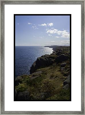 Cape Spear Coast Line  Framed Print