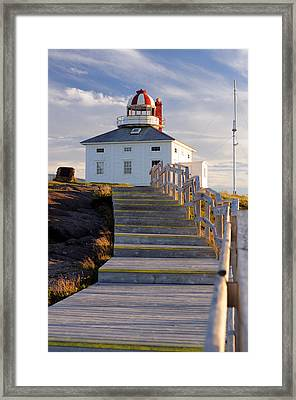 Cape Spear Lighthouse Boardwalk Framed Print