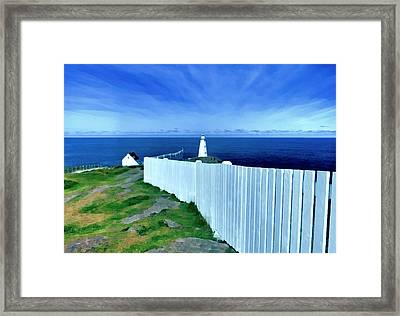 Cape Spear Lighthouse Newfoundland Framed Print by Patricia Januszkiewicz