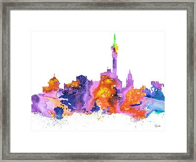 Cape Town Framed Print by Watercolor Girl