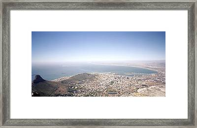 Cape Town Panorama Framed Print by Shaun Higson