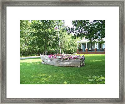 Cape Vincent Flowerboat Framed Print by Kevin Croitz