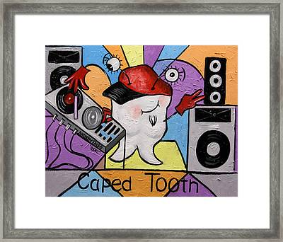 Caped Tooth Framed Print