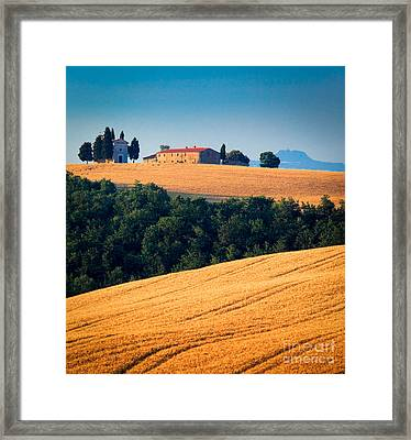 Capella Di Vitaleta Framed Print by Inge Johnsson