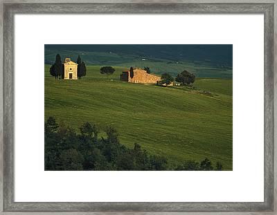 Capella Vitaleta Framed Print by Andrew Soundarajan