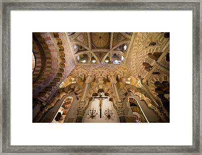 Capilla De Villaviciosa In The Great Mosque Of Cordoba Framed Print