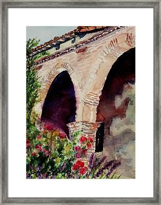 Capistrano Arches Framed Print by Mary Benke