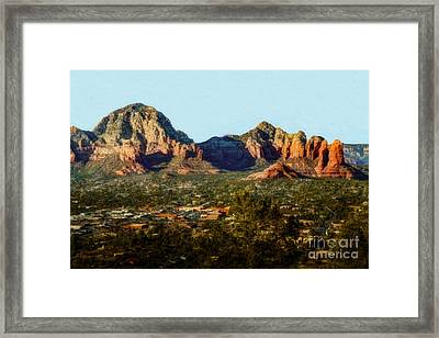Capital Butte To Coffee Pot Rock Framed Print