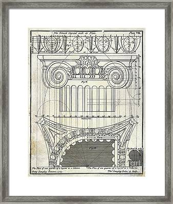Capital Drawing Framed Print by Jon Neidert