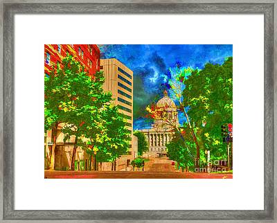 Capital - Jefferson City Missouri - Painting Framed Print