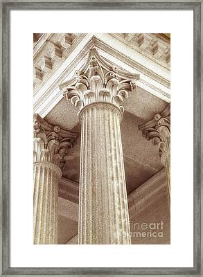 Capital Of The Column Framed Print by Charline Xia