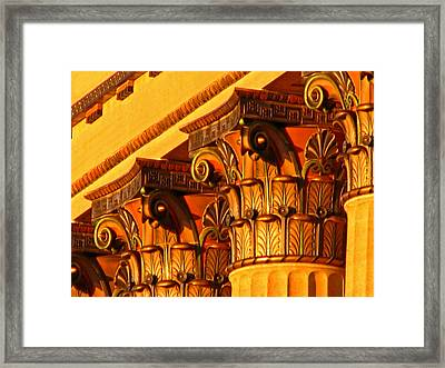 Framed Print featuring the photograph Capitals by Christopher Woods