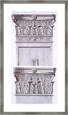 Capitals From The Temple Near The Roman Baths Framed Print by French School