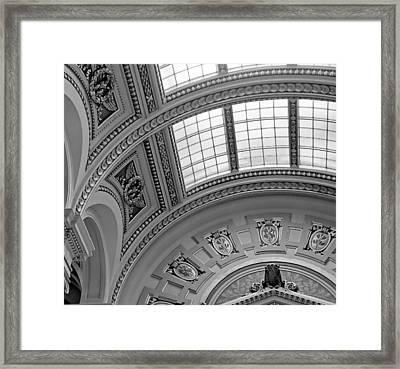 Capitol Architecture - Bw Framed Print by Jenny Hudson