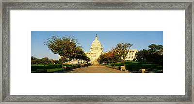Capitol Building, Washington Dc Framed Print by Panoramic Images