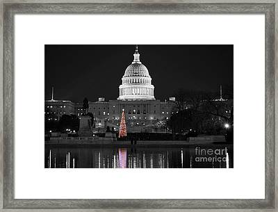 Framed Print featuring the photograph Capitol Christmas by Shawn O'Brien