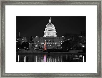 Capitol Christmas Framed Print by Shawn O'Brien