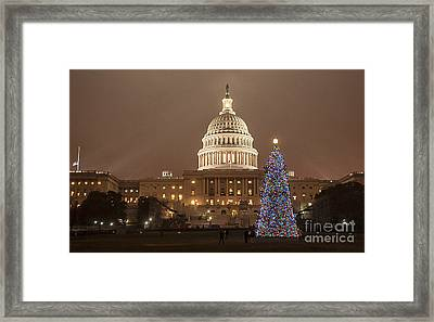 Capitol Christmas Framed Print by Terry Rowe