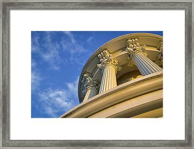 Capitol Columns Framed Print