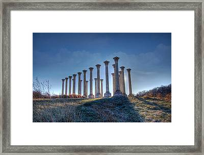 Framed Print featuring the photograph Capitol Columns by Michael Donahue