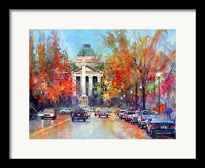 Confederate Monument Paintings Framed Prints