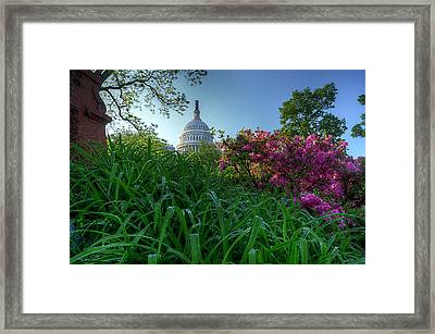 Framed Print featuring the photograph Capitol Dome by Michael Donahue