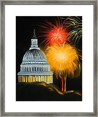 Capitol Fourth Of July Framed Print by Anne Lewis