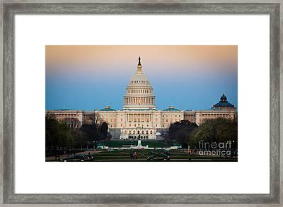 Capitol Hill Framed Print by Inge Johnsson