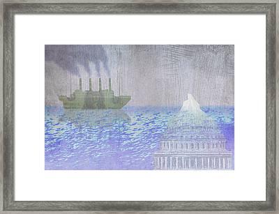 Capitol Iceberg Framed Print