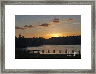 Framed Print featuring the photograph Capitol Lake Sunset by Susan Parish