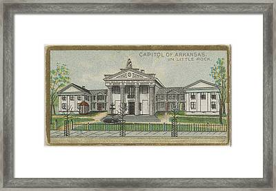 Capitol Of Arkansas In Little Rock Framed Print