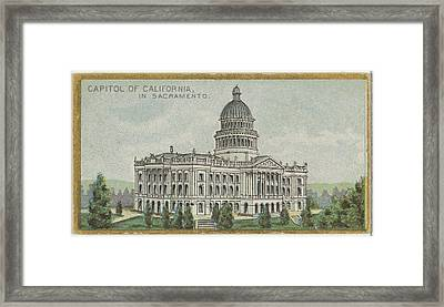 Capitol Of California In Sacramento Framed Print