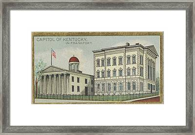 Capitol Of Kentucky In Frankfort Framed Print