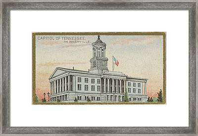 Capitol Of Tennessee In Nashville Framed Print by Issued by Allen & Ginter