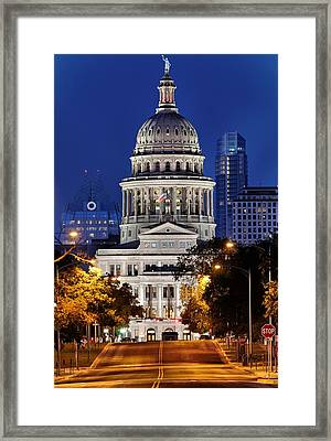 Capitol Of Texas Framed Print