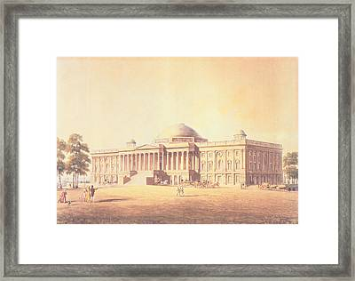 Capitol Of The United States, Engraved By Thomas Sutherland, 1825 Aquatint Framed Print
