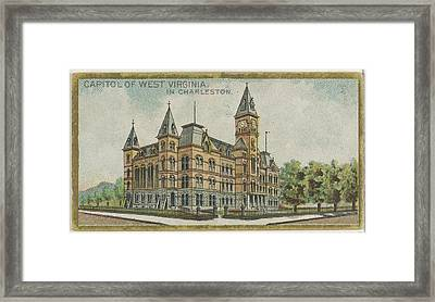 Capitol Of West Virginia In Charleston Framed Print by Issued by Allen & Ginter