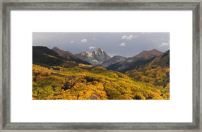 Framed Print featuring the photograph Capitol Peak Panorama by Aaron Spong