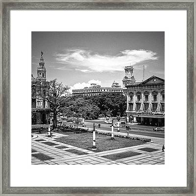 Capitol Plaza, Central Park And A Taste Framed Print